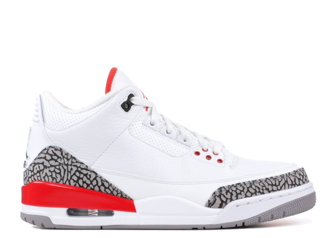 """c83645bb8a0 As you can see it in the featured picture of this post, the Air Jordan 3  """"Katrina"""" posts the signature red color that are found on a lot of Air  Jordan retro ..."""
